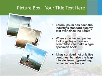 Young tourists from top of a mountain PowerPoint Template - Slide 17