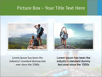 Young tourists from top of a mountain PowerPoint Template - Slide 18