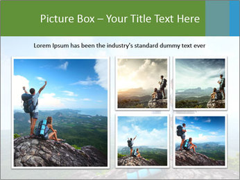 Young tourists from top of a mountain PowerPoint Template - Slide 19