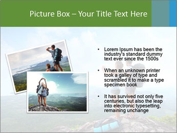 Young tourists from top of a mountain PowerPoint Template - Slide 20