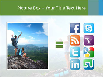 Young tourists from top of a mountain PowerPoint Template - Slide 21