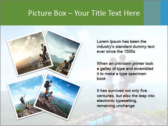 Young tourists from top of a mountain PowerPoint Template - Slide 23