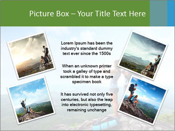 Young tourists from top of a mountain PowerPoint Template - Slide 24