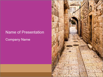 Ancient Alley PowerPoint Template - Slide 1