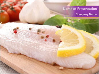 Raw fish PowerPoint Template
