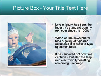 A little baby driving PowerPoint Templates - Slide 13