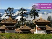 Dochula Temple PowerPoint Templates