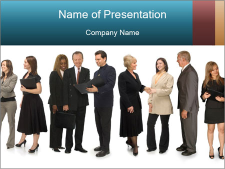 Group of corporate business people PowerPoint Template