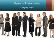 Group of corporate business people PowerPoint Templates
