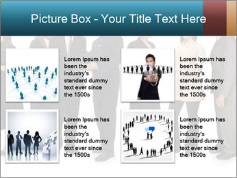 Group of corporate business people PowerPoint Template - Slide 14