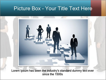 Group of corporate business people PowerPoint Template - Slide 15