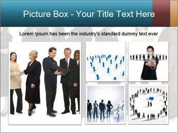 Group of corporate business people PowerPoint Template - Slide 19