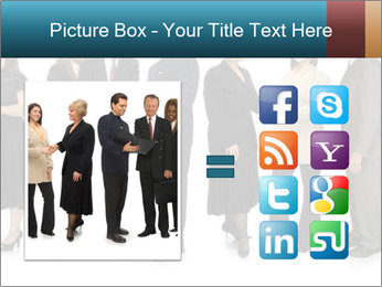 Group of corporate business people PowerPoint Template - Slide 21