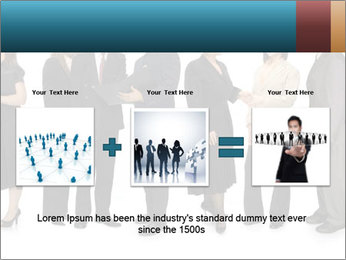 Group of corporate business people PowerPoint Template - Slide 22