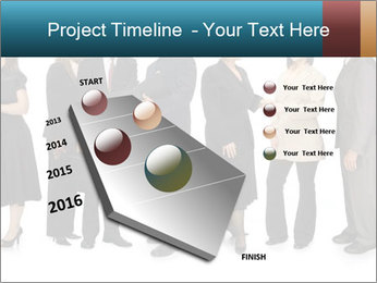 Group of corporate business people PowerPoint Template - Slide 26