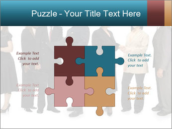 Group of corporate business people PowerPoint Template - Slide 43