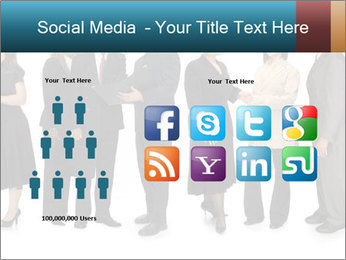 Group of corporate business people PowerPoint Template - Slide 5