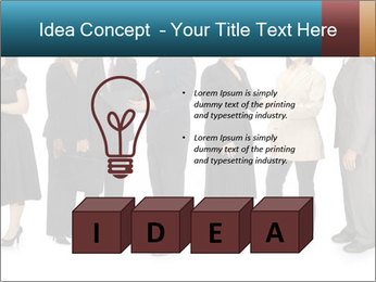 Group of corporate business people PowerPoint Template - Slide 80