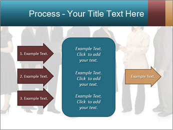 Group of corporate business people PowerPoint Template - Slide 85