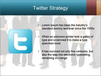 Group of corporate business people PowerPoint Template - Slide 9
