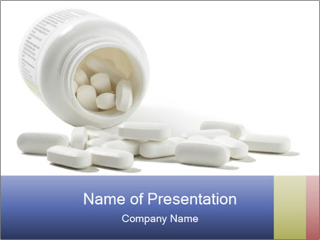 Bottle of tablets PowerPoint Templates