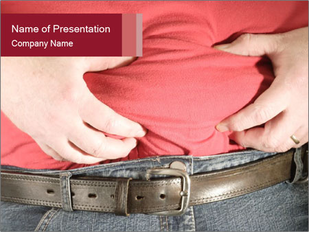 Overweight man PowerPoint Template