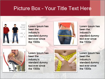 Overweight man PowerPoint Template - Slide 14