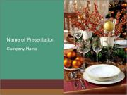 Christmas table PowerPoint Templates