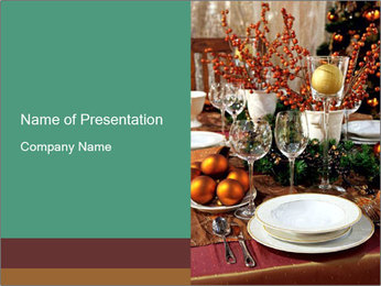 Christmas table PowerPoint Template - Slide 1