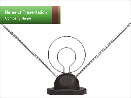 Television antenna PowerPoint Template