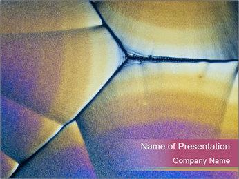 Ascorbic acid in polarized light PowerPoint Template - Slide 1