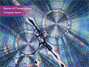 Microcrystals PowerPoint Template - Slide 1