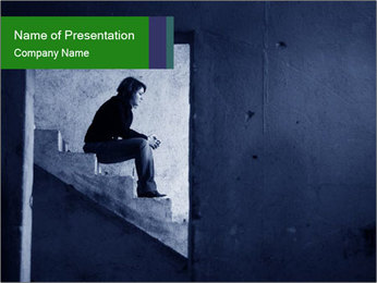 Loneliness PowerPoint Template - Slide 1