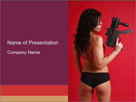 Sexy woman PowerPoint Template