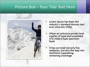Mountain Biker PowerPoint Template - Slide 13