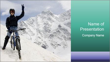 Mountain Biker PowerPoint Template
