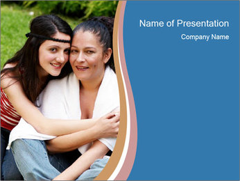 Mother and daughter PowerPoint Template