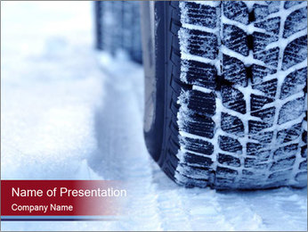 Winter tyres PowerPoint Template - Slide 1