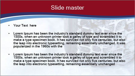 Winter tyres PowerPoint Template - Slide 2