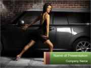 Hot female dance PowerPoint Templates