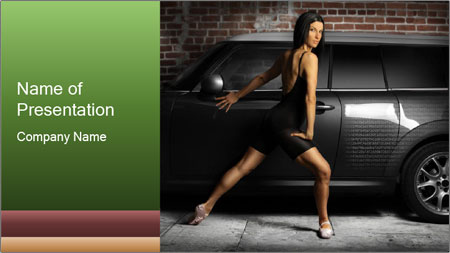 Hot female dance PowerPoint Template