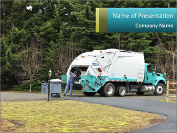 A Sanitation Worker PowerPoint Template - Slide 1