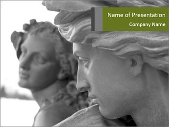 Carved statue PowerPoint Template - Slide 1