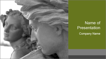 Carved statue PowerPoint Template