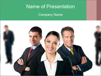Confident business team PowerPoint Template