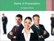 Confident business team PowerPoint Templates