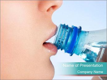 Woman drinking PowerPoint Template - Slide 1