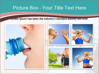 Woman drinking PowerPoint Template - Slide 19