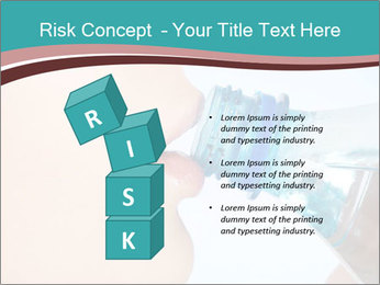 Woman drinking PowerPoint Template - Slide 81