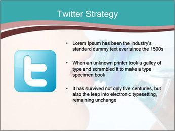 Woman drinking PowerPoint Template - Slide 9